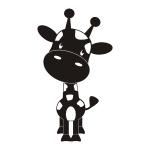 Naklejka na ścianę do pokoju dziecka Żyrafa M22