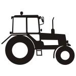Naklejka na ścianę Ciągnik, traktor M4