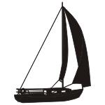 Naklejka welurowa Żaglówka W3