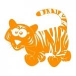 Szablon ścienny Tygrysek S7