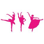 Szablony malarskie Baletnice - 3 sztuki nr S2
