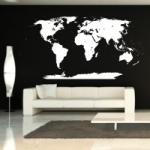 Naklejka na ścianę Mapa świata z Antarktydą M2