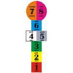 Naklejka na podłogę Gra w klasy w języku niemieckim K2