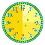 Naklejka podłogowa zegar cyfry arabskie i cyfry rzymskie nr K28