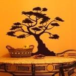 Naklejka welurowa dekoracyjna drzewo Bonsai W3