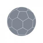 Naklejka welurowa ścienna Piłka ręczna W12