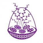 Naklejka dekoracyjna Wielkanocny koszyczek M6
