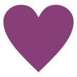 Naklejka welurowa do dekoracji Serce W2