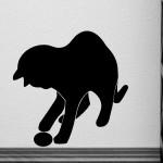 Naklejka ścienna Kotek z piłką M5