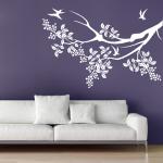 Naklejka na ścianę Gałąź z ptaszkami M40