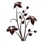 Naklejka na płytki Motyw kwiatowy K24
