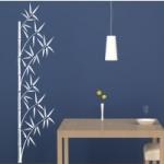 Naklejka welurowa do dekoracji Bambus W6
