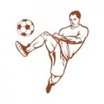 Naklejka welurowa na ścianę Piłkarz z piłką W13