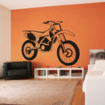 Naklejka welurowa Motocross W2