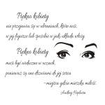 Naklejka welurowa ścienna tekst Audrey Hepburn W5