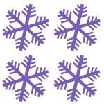 Naklejki na ścianę Śnieżynki M17