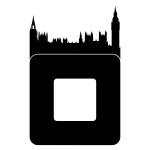 Welurowa naklejka pod włącznik miasto Londyn W44