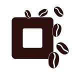 Naklejka na kontakt z ziarenkami kawy M35