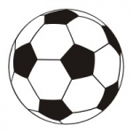 Naklejka welurowa ścienna Piłka nożna W8