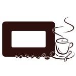 Naklejka pod włącznik podwójny z filiżanką kawy M24