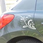Naklejka na samochód z motywem kwiatowym A6