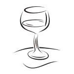 Naklejka na płytki Lampka do wina K12