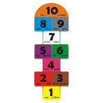 Kolorowa naklejka podłogowa Gra w klasy, wersja angielska nr K4
