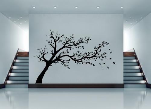 naklejka na ścianę matowe drzewko