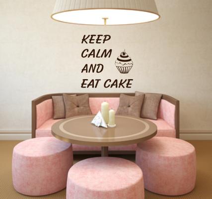 Szablon do malowania na ścianę tekst po angielsku keep calm czyli zachowaj spokój i....