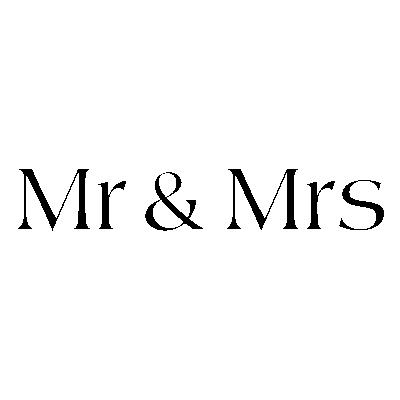 Szablon Z Napisami Na ścianę Do Sypialni Mr Mrs S2