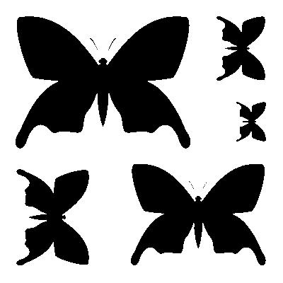 Szablony Dekoracyjne Zestaw Motyli S20 Szablony Do