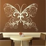 Naklejka ścienna Florystyczny motyl M10