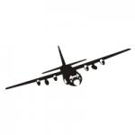Welurowa naklejka Samolot W6