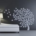 Szablon do malowania Jesienne drzewo S5