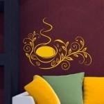 Szablon do dekoracji Florystyczna filiżanka S18