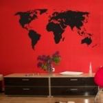 Mapa świata na ścianę naklejka M1