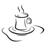 Szablon malarski Kubek do kawy S15