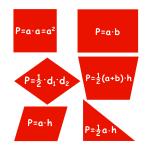 Naklejki na ścianę Figury geometryczne M21