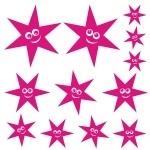 Szablony do pomalowania Uśmiechnięte gwiazdki S11