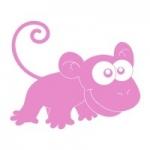 Naklejka ścienna Małpka M2