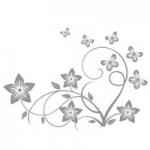 Naklejka na lustro Motyw kwiatowy L6