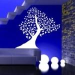 Naklejka welurowa do dekoracji Drzewo W7