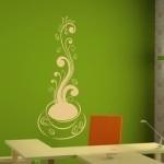 Naklejka welurowa na ścianę Kawowa filiżanka W3