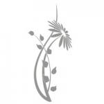 Naklejka na lustro Kwiat L11