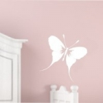 Naklejka welurowa na ścianę Motylek W2