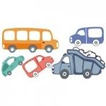 Naklejki Zestaw samochodów K1