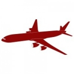 Szablon ścienny Samolot S8