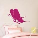 Naklejka welurowa dekoracyjna Motyl W3