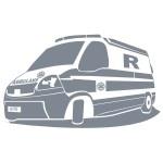 Welurowa naklejka na ścianę Ambulans W11