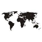 Naklejka ścienna Mała mapa świata M6